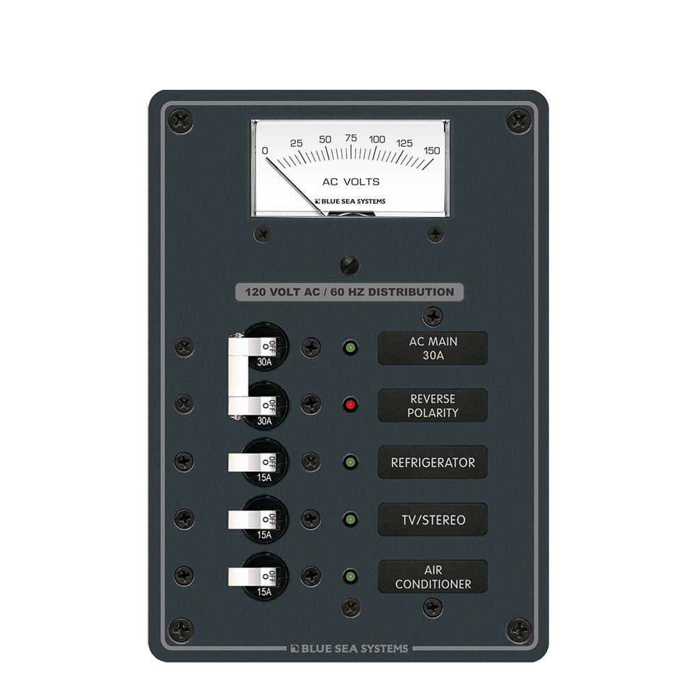 Blue Sea Systems AC Main 3 Position Circuit Breaker Panel