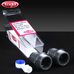 Todd Holding Tank Straight Pipe-to-Hose Fitting Adapter Kit
