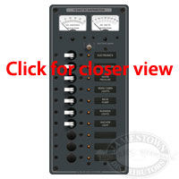 Blue Sea Systems 10 Position Toggle DC Circuit Breaker Panel