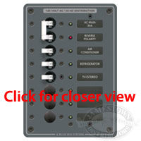 Blue Sea Systems AC Main 6 Position Circuit Breaker Panel