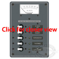 Blue Sea Systems AC Main 3 Position Circuit Breaker Panel