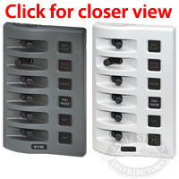 Blue Sea Systems WeatherDeck 6 Position DC Fuse Panel