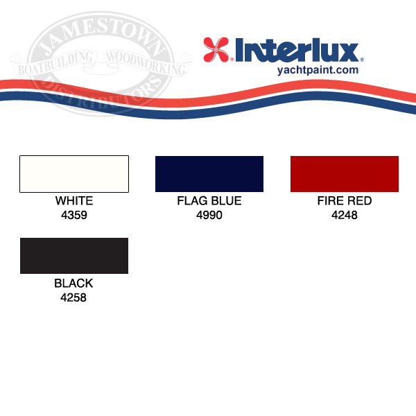Interlux Brightside Boottop and Striping Enamel Color Chart