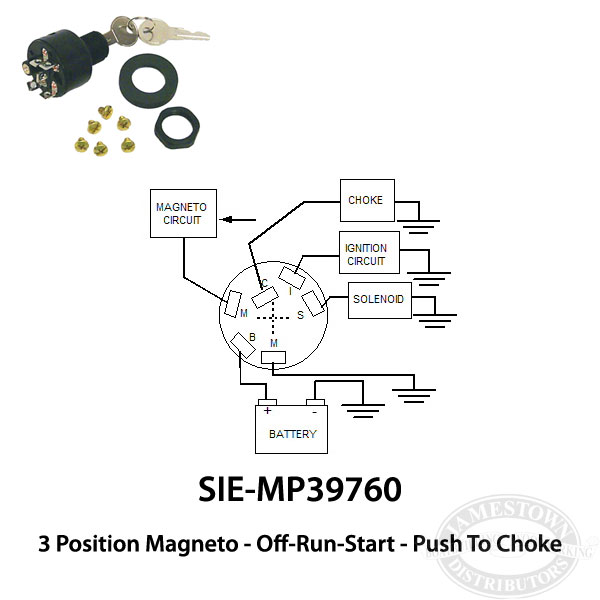 sie 8419 2 johnson evinrude ignition switch 3 position off run start johnson ignition switch wiring diagram at bayanpartner.co
