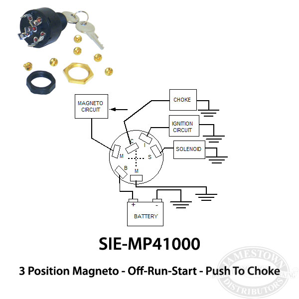 sie 8420 2 mercury mariner ignition switch off run start Boat Ignition Switch Wiring Diagram at mifinder.co