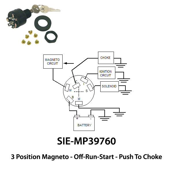 johnson/evinrude ignition switch 3 position off-run-start  jamestown distributors
