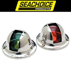 SeaChoice Vertical Mount Stainless Steel Side Lights