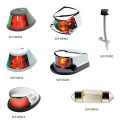 SEACHOICE Bi-Color Navigation Bow Light 2-Mile Black Plastic SCP 04901