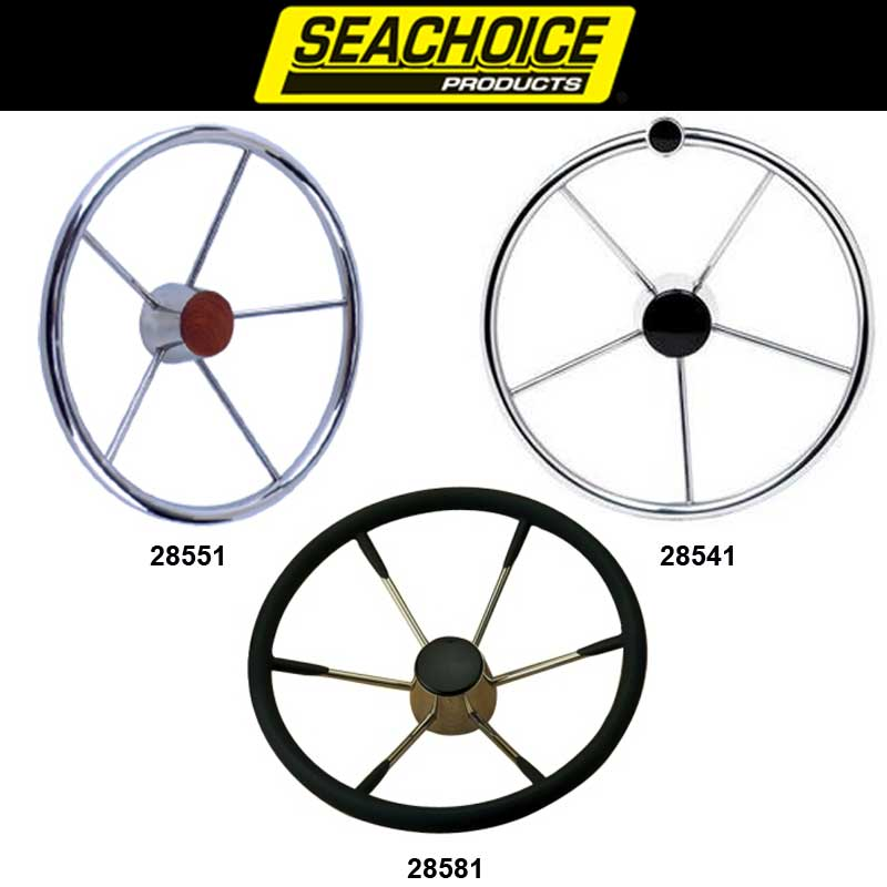 Seachoice Destroyer 5-Spoke Steering Wheels
