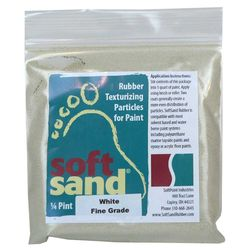 SoftPoint Industries Rubber Non-Skid Texturizing Particles White