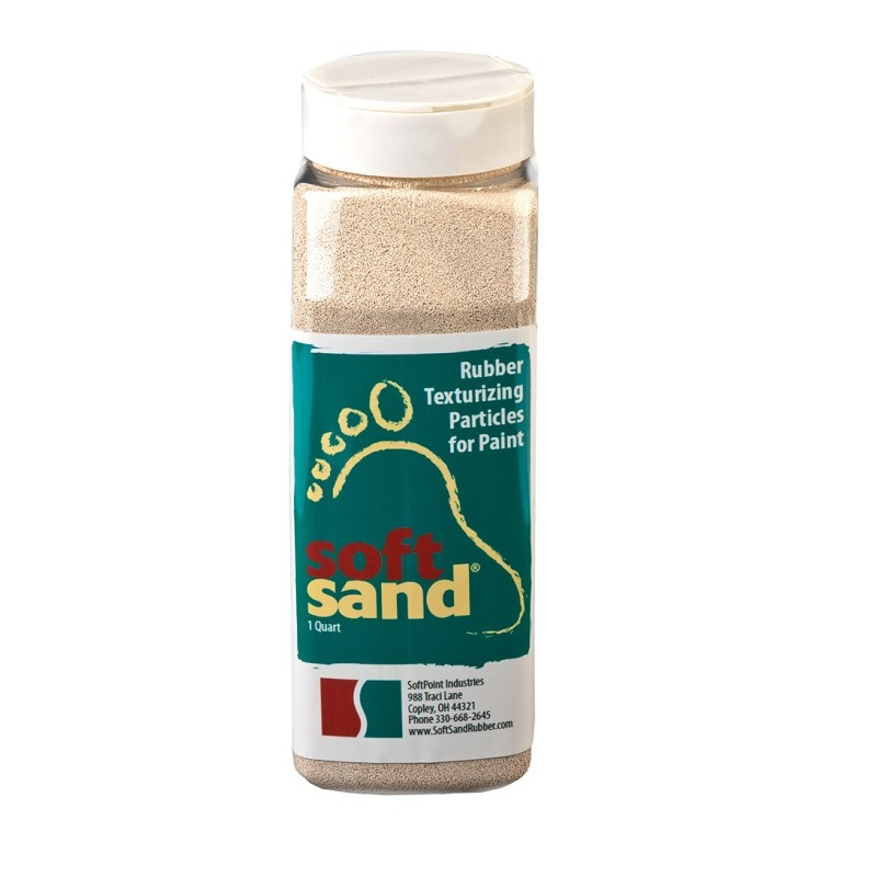 SoftSand Rubber Non-Skid Quart Shaker