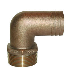 Groco Pipe-to-Hose 90 Degree - Standard Flow - Bronze, NPT