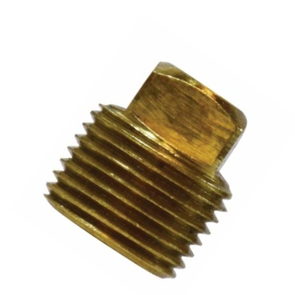 Square Head Plug Fittings - Bronze and Brass, NPT