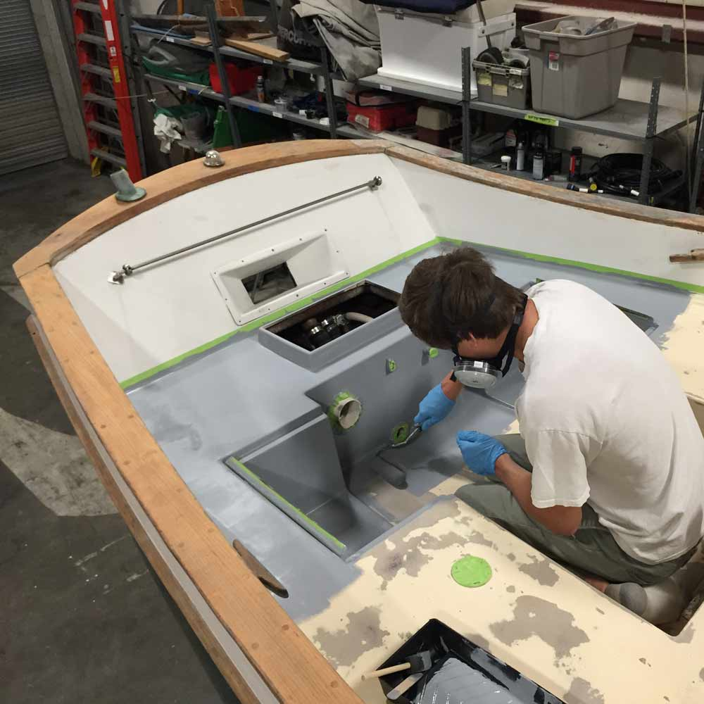 TotalBoat 2-Part Epoxy Primer In Use
