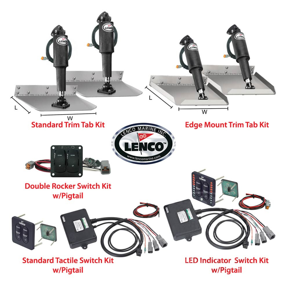Lenco Electric Complete Trim Tab Kits with Switch Kits