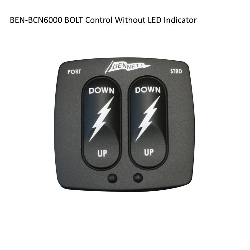 Bennett BOLT Trim Tab System Rocker Switch Controls - Without LED Indicator
