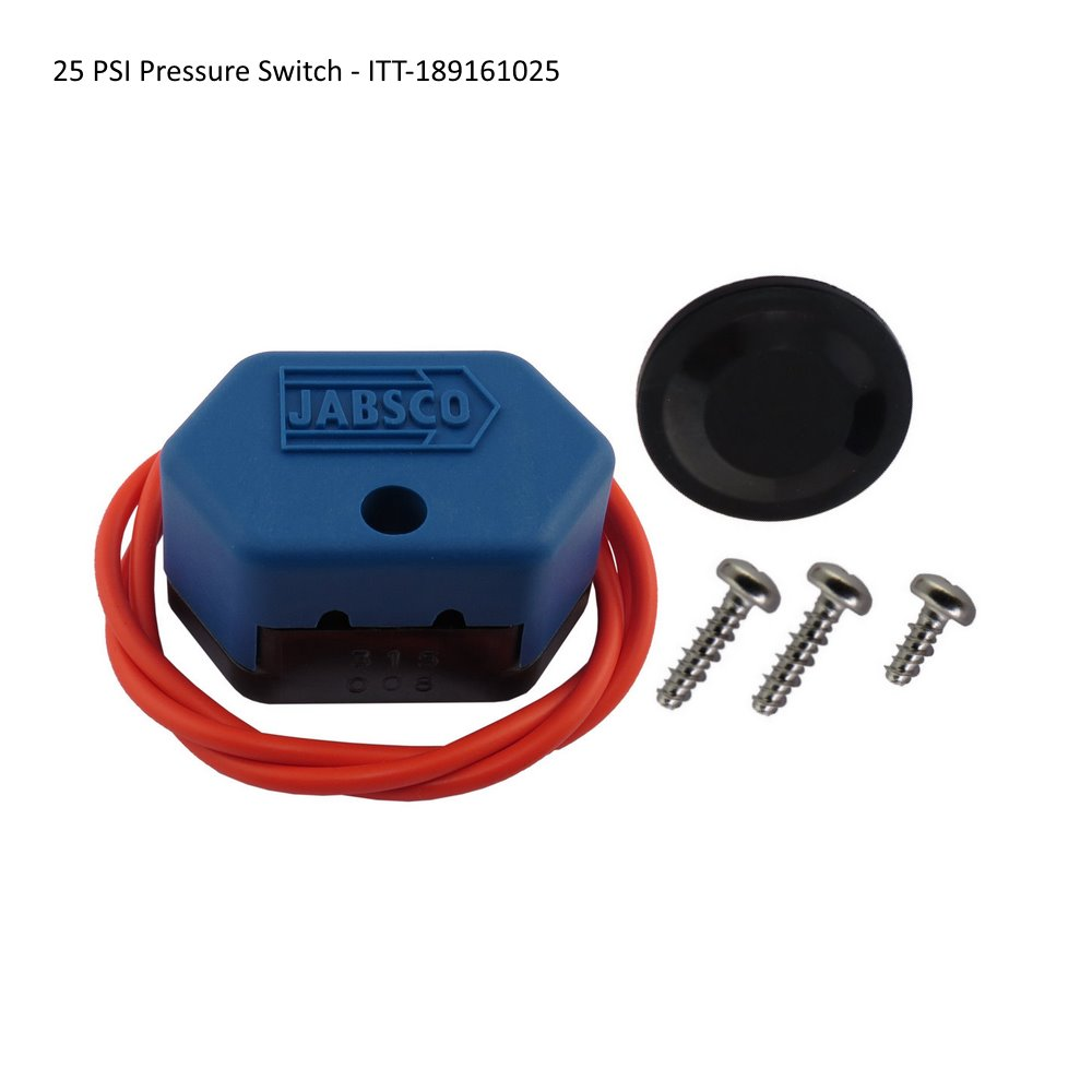 Replacement pressure switches for ITT Jabsco water pumps - 25 PSI