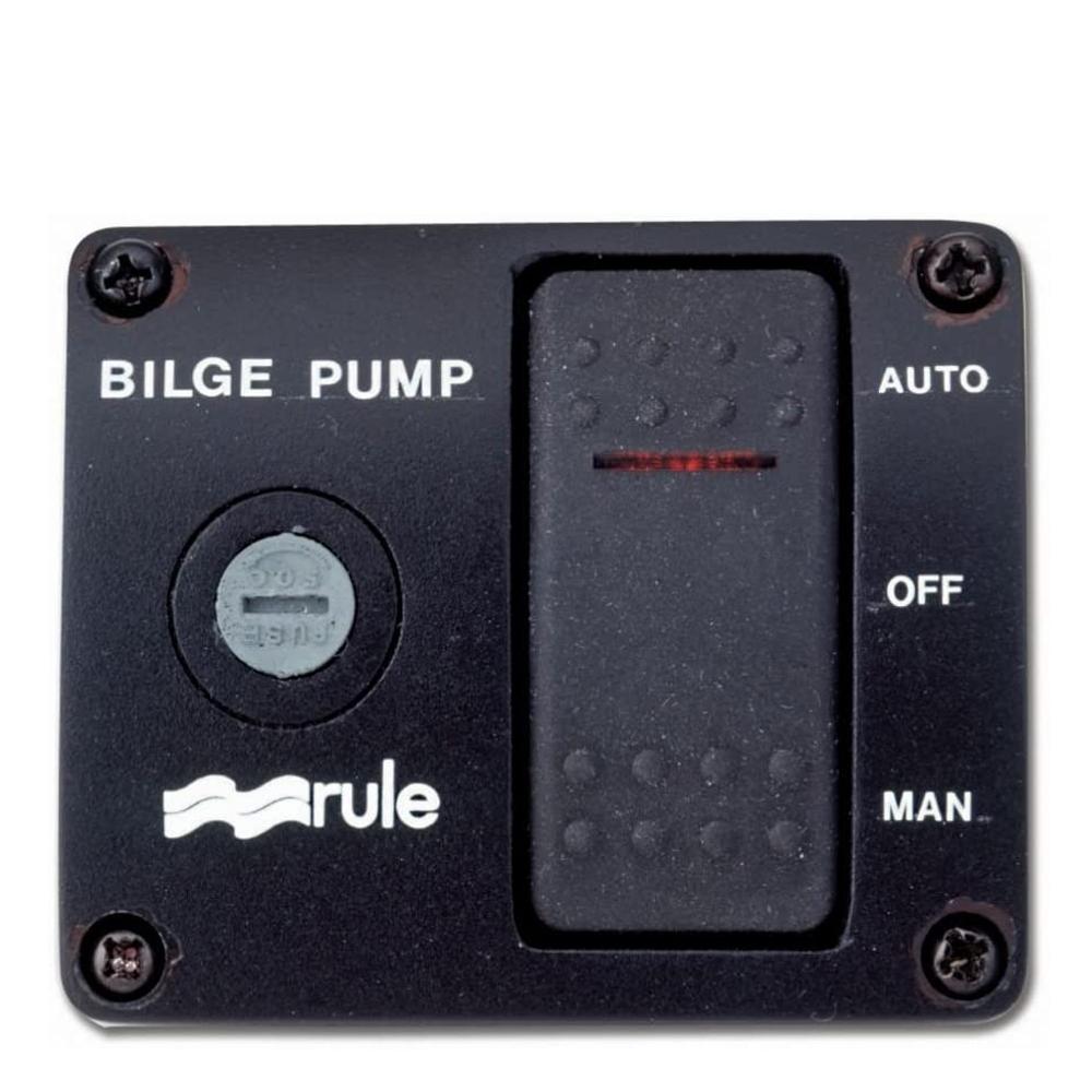 Rule 3-Way Panel Lighted Rocker Bilge Pump Switch