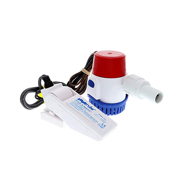 Rule 500 GPH Bilge Pump & Rule-A-Matic Float Switch