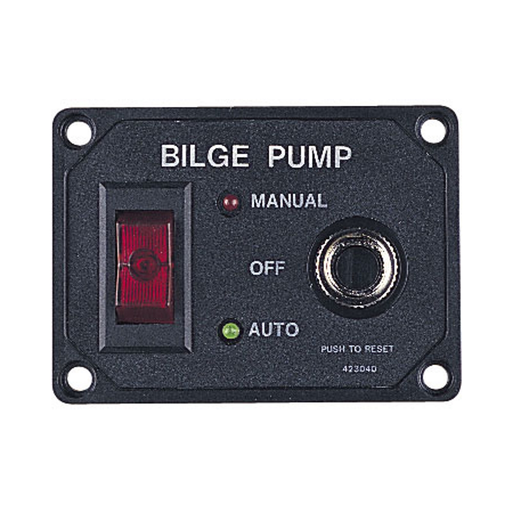 Sea-Dog Bilge Pump Panel with Circuit Breaker