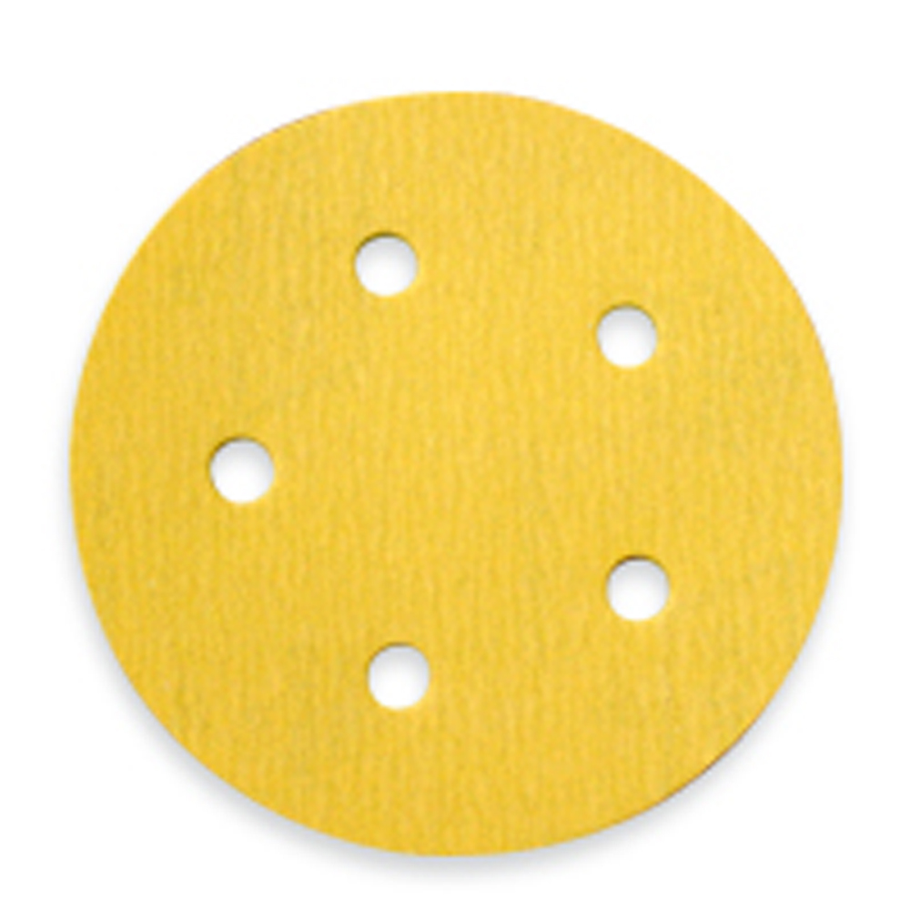 Norton - Gold 290 Discs - Hook and Loop - 5 inch x 5 Holes