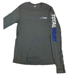 TotalBoat Long Sleeve Logo Crewneck T-Shirt Front