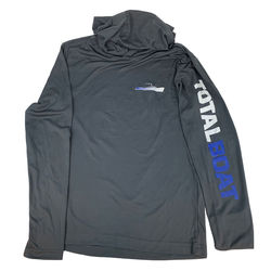 TotalBoat Hooded Long Sleeve Logo Pullover Front