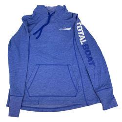 TotalBoat Hooded Logo Sleeve Wicking Fleece Sweatshirt Front