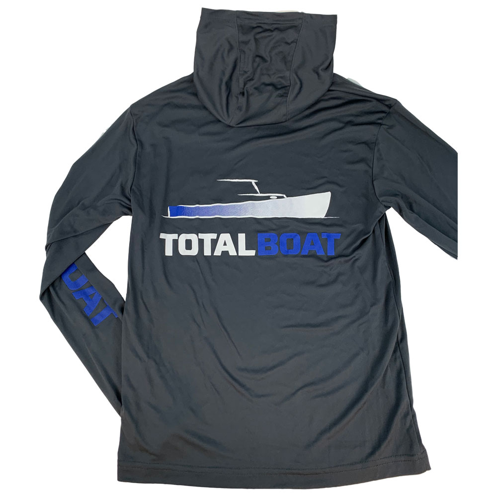 TotalBoat Hooded Long Sleeve Logo Pullover Back