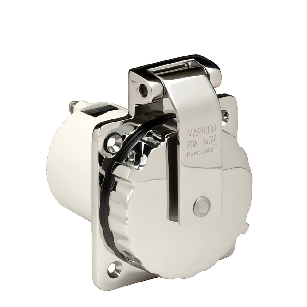 Marinco 30A 125V Stainless Steel Power Inlet