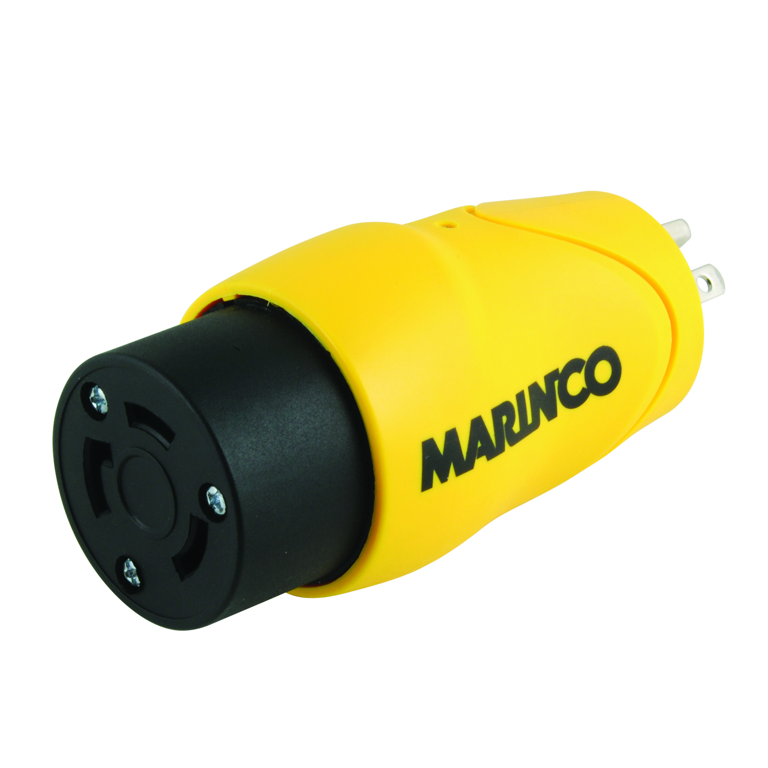 Marinco Shore Power 30A to 15A Straight Blade One-Piece Male Adapter