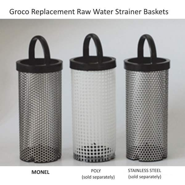 Groco Replacement Monel Raw Water Strainer Baskets