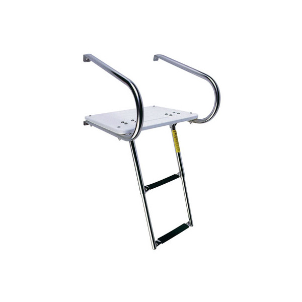 Garelick EEz-In I/O Transom Platform with Telescoping Ladder