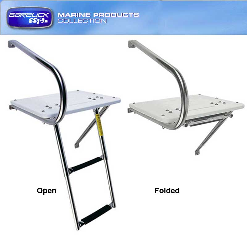 Garelick EEz-In Outboard Transom Platform and Ladder