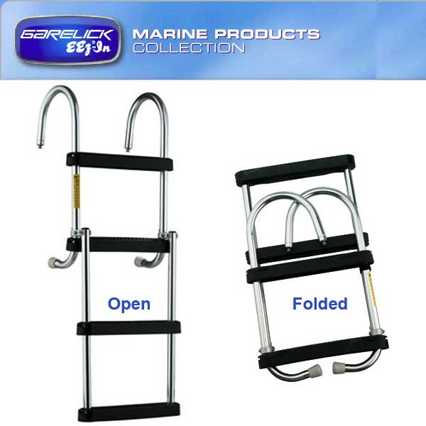 Garelick EEz-In Removable Folding Pontoon Boarding Ladder