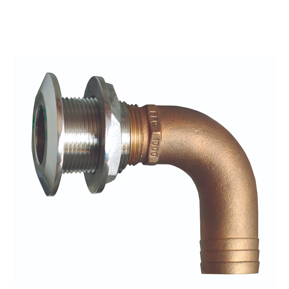 Groco Stainless / Bronze 90 degree Thru-Hulls