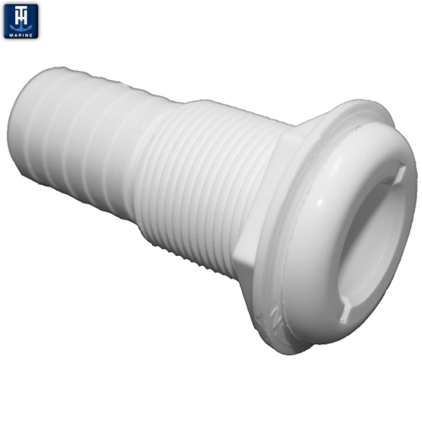 TH Marine Straight Plastic Thru Hull Hose Fittings