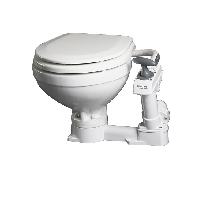 Johnson Pump AquaT Compact Manual Toilet