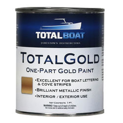 TotalBoat TotalGold Gold Metallic Paint Pint Size