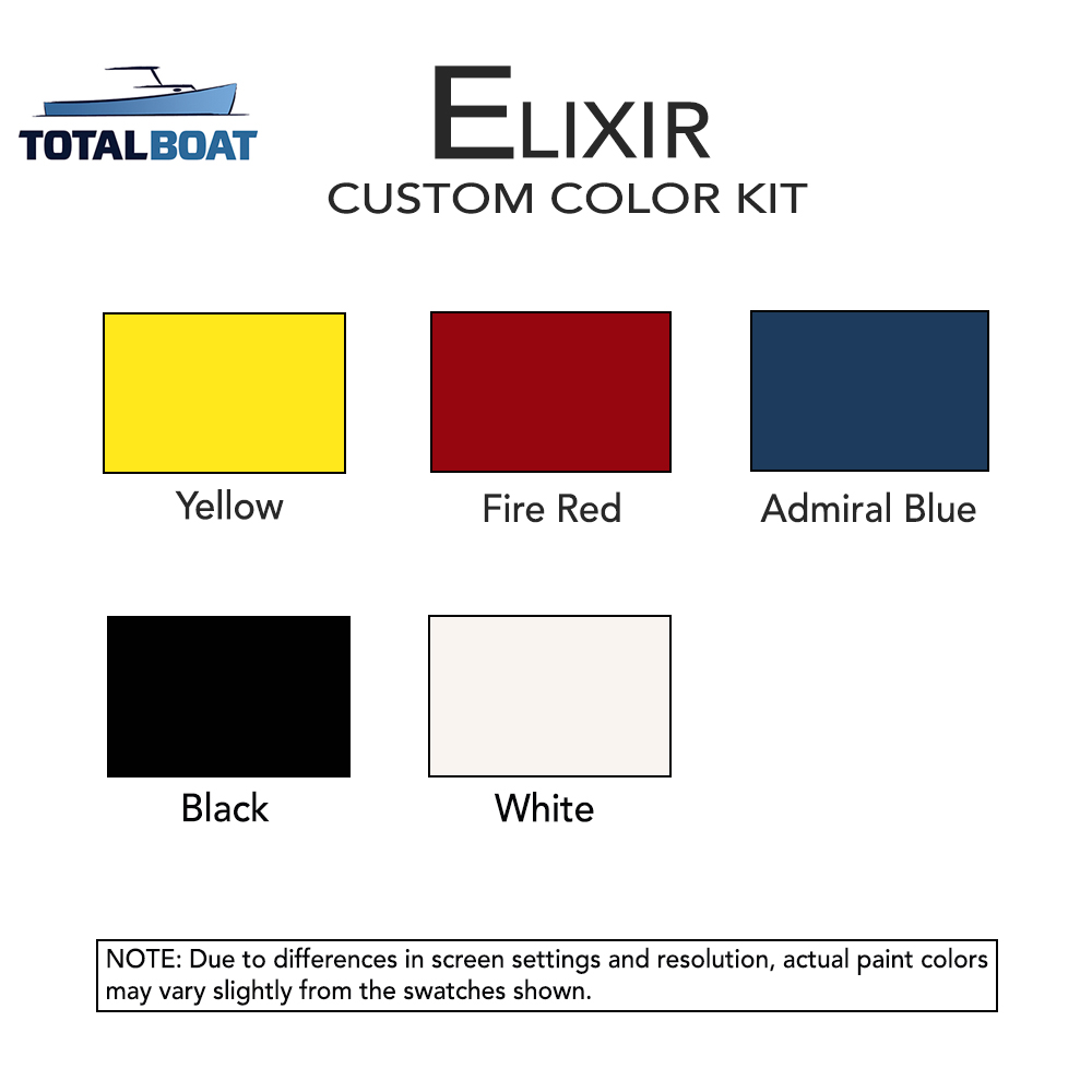 Water based marine paint color chart