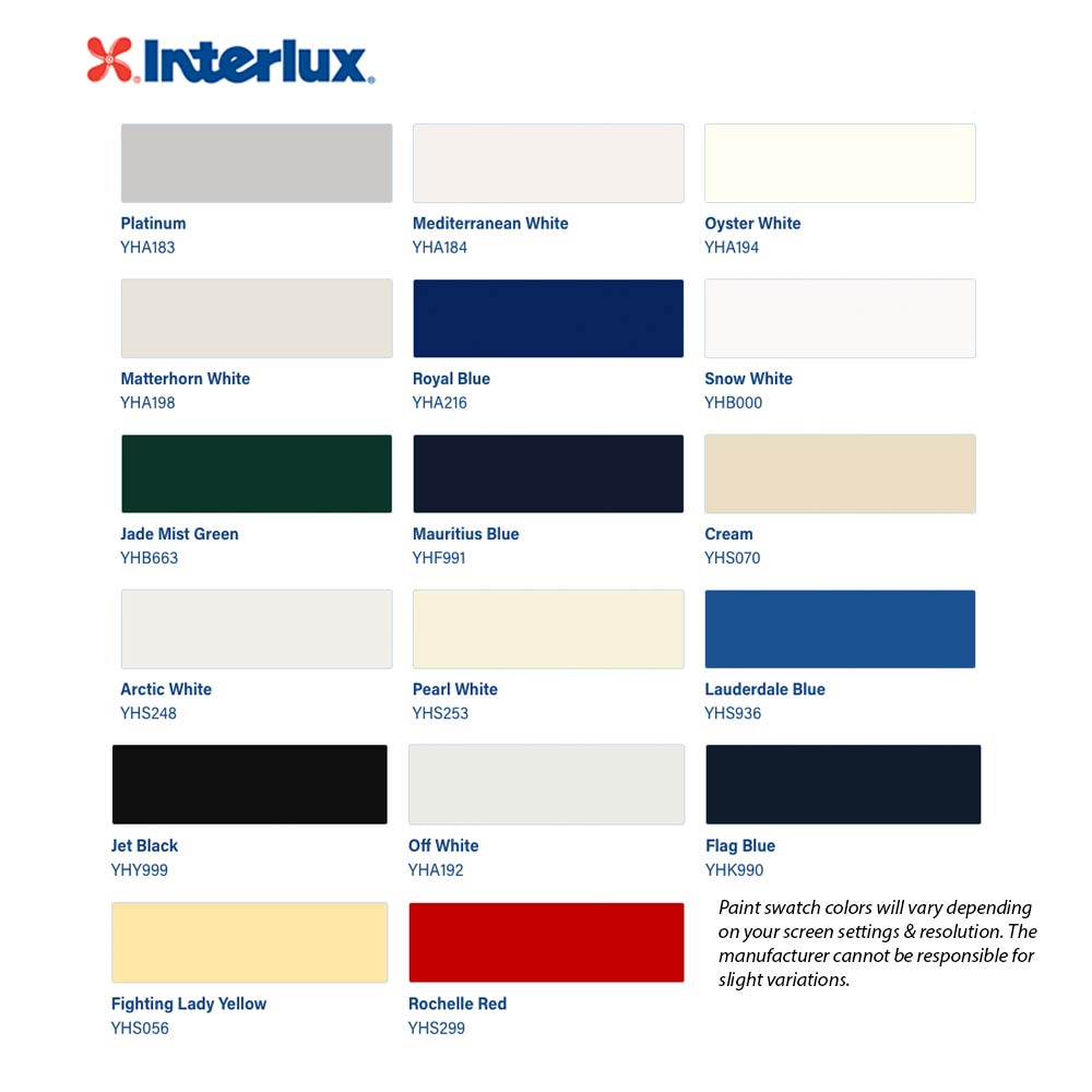 Interlux Perfection Color Chart