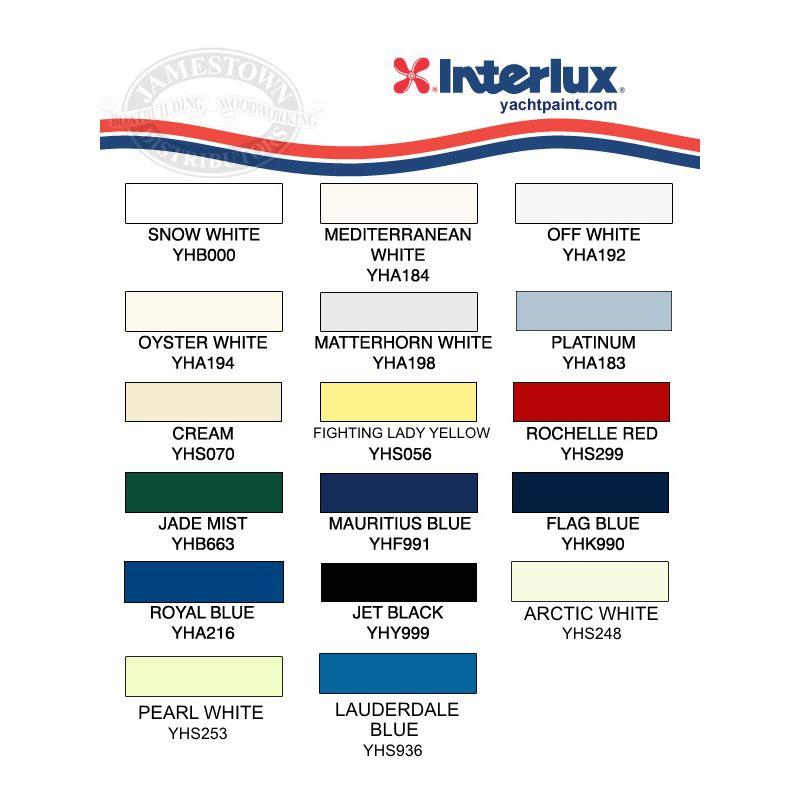 Interlux Perfection Paint Color Chart
