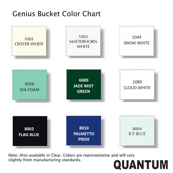 Quantum DIY Boat Paint Genius Bucket - Color Chart