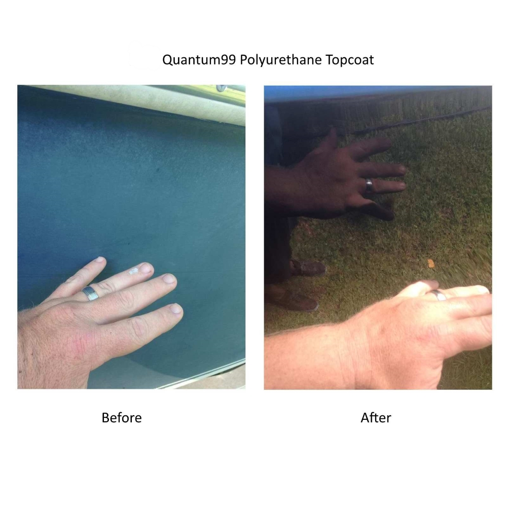 Quantum 99 Polyurethane Topcoat Before and After