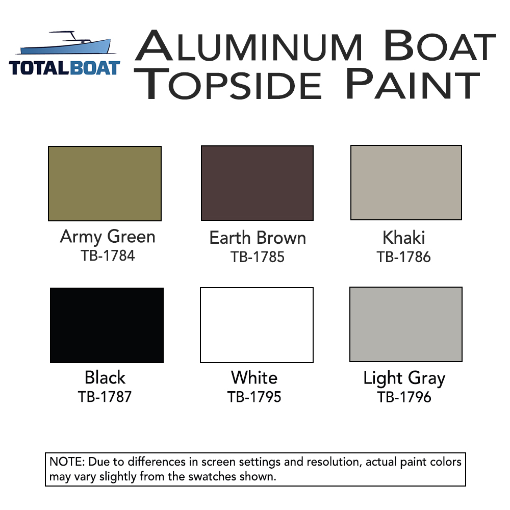 Aluminum Boat Paint Color Chart