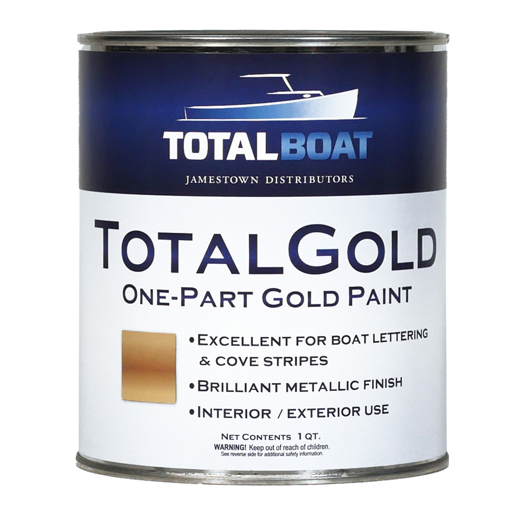 TotalBoat TotalGold Gold Metallic Paint Quart Size