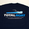 TotalBoat Apparel T-Shirt Navy Back