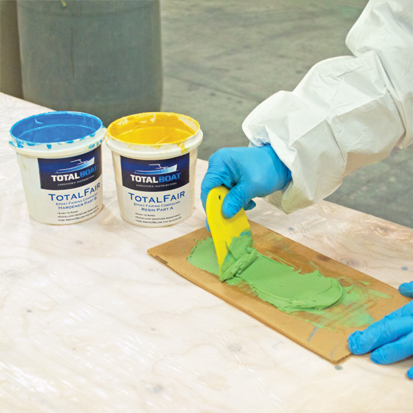Mixing TotalBoat TotalFair Epoxy Fairing Compound