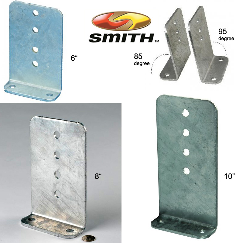 CE Smith Galvanized Steel Vertical Bunk Brackets