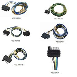 Wesbar 5-Flat Wiring Harnesses on
